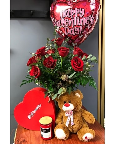 Supreme Valentine Flower Arrangement