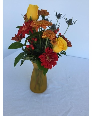 Golden Glow Flower Arrangement