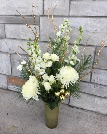 Golden Sparkle Flower Arrangement