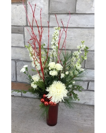 Red Sparkle Flower Arrangement