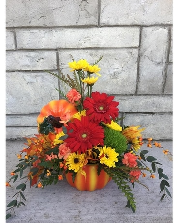 Pumpkin Time Flower Arrangement