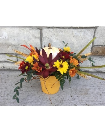 Fields of Fall yellow Flower Arrangement