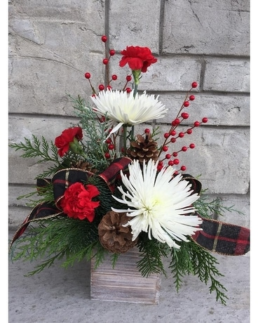 Happy Holidays small Flower Arrangement