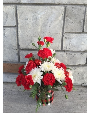 Perfect Plaid small A Flower Arrangement