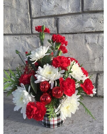 Perfect Plaid small B Flower Arrangement