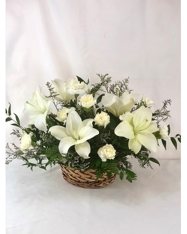 All White Sympathy Basket