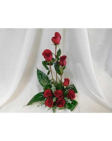 Zen Rose Garden Flower Arrangement