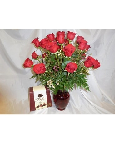 Truffles & Roses Flower Arrangement