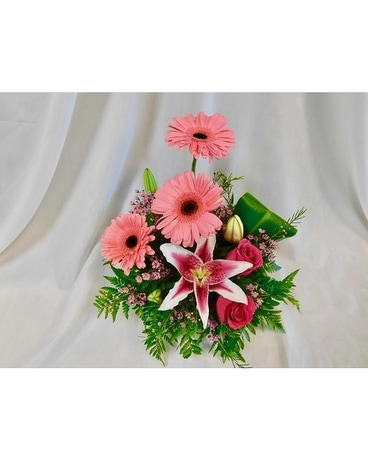 Fuchsia Fun Flower Arrangement