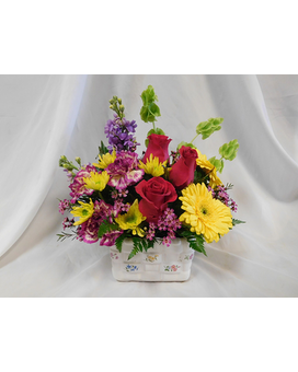 Bloomin Basket Flower Arrangement