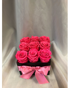 Preserved Pink Flower Arrangement