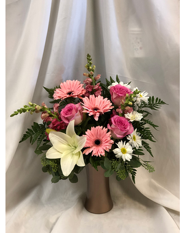 Rose Gold Flower Arrangement