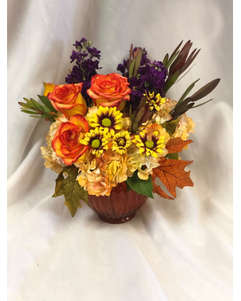 Harvest Festival Flower Arrangement