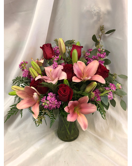 Romantic Reveal Flower Arrangement