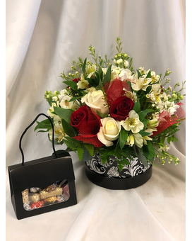 Grab Your Hat & Purse Flower Arrangement