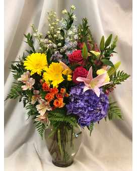 Rainbow's End Flower Arrangement