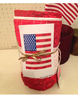 Distressed Patriotic Flag Quilt Gifts