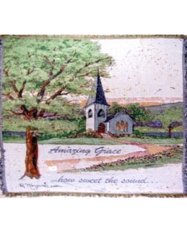 Amazing Grace Tapestry or Throw Gifts