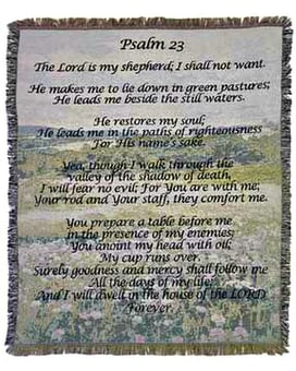 Psalm 23 Tapestry or Throw (Long) Gifts