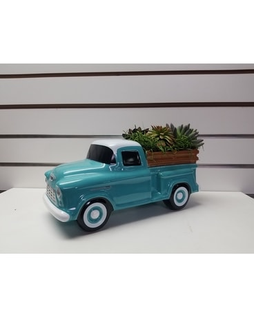 Chevy Truck Silk Succulent Gifts