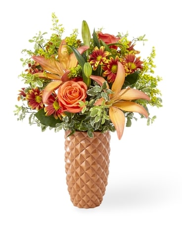 Warm Amber Flower Arrangement