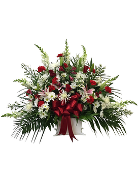 Designer's Choice Red and White Basket