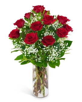 Dozen Red Roses & A Million Stars Flower Arrangement