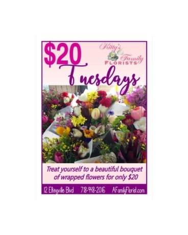 $20 Tuesday Bouquets Flower Arrangement