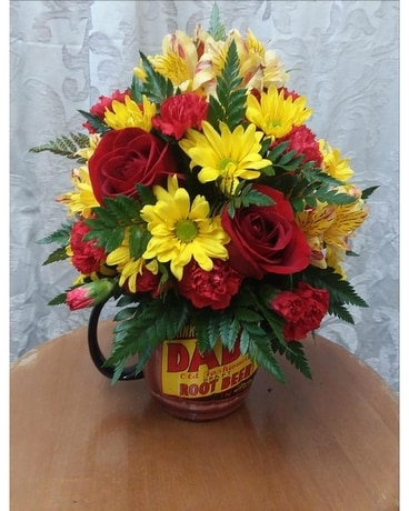 Root Beer Keepsake Flower Arrangement