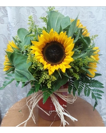 Rustic Sunflowers Flower Arrangement