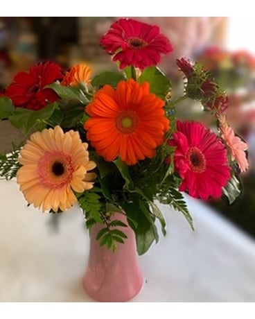 Mother's Day Gerbera Daisies Flower Arrangement
