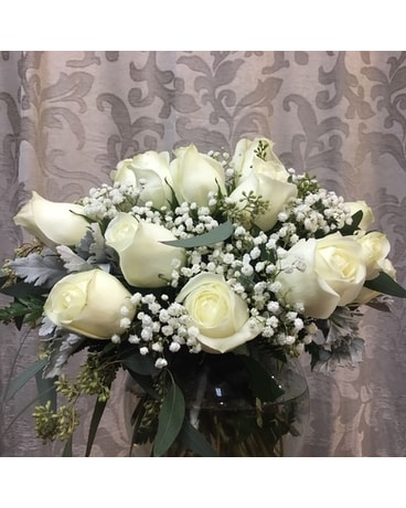 Frosty Snowflakes Flower Arrangement