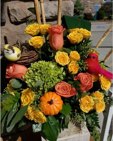 Beauty of Fall Flower Arrangement