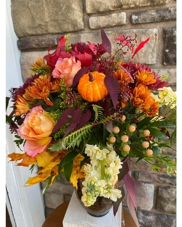 Shades of Fall Flower Arrangement