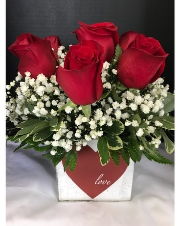Heart Full Of Love Flower Arrangement