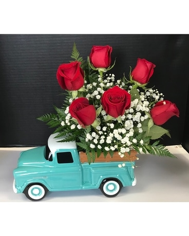 Chevy Truck Flower Arrangement