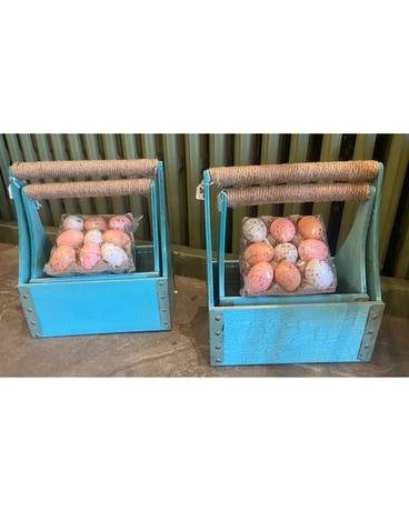 Teal Garden Box Planter Gifts