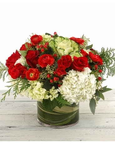 Seasons Greetings Flower Arrangement
