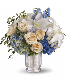 Teleflora's Seaside Centerpiece Flower Arrangement