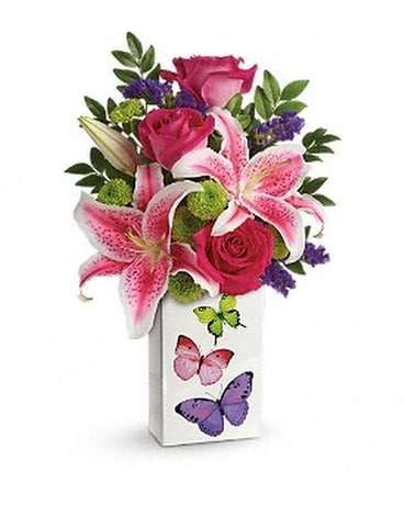 Teleflora's Brilliant Butterflies Bouquet Flower Arrangement