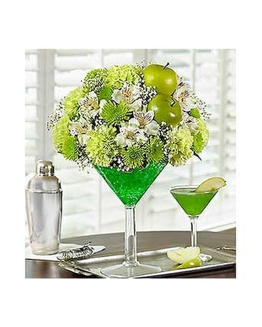 Apple Martini Flower Arrangement