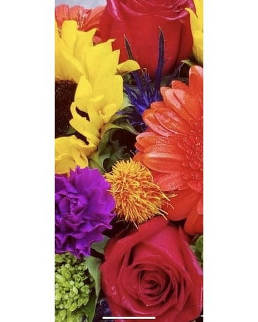 Bright and Colorful Designer's Choice Flower Arrangement