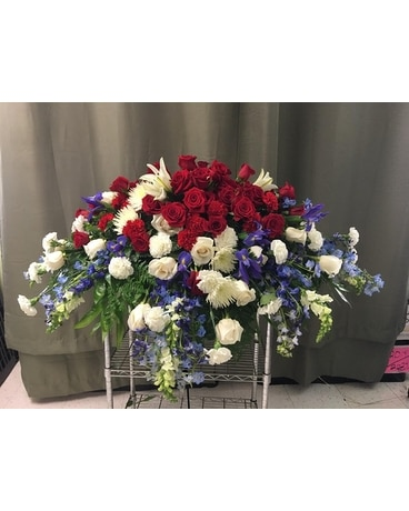 Family Tribute Funeral Casket Spray Flowers