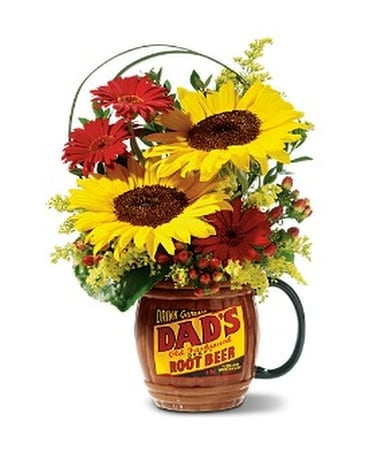 Rootin' for Dad - Deluxe Bouquet Flower Arrangement