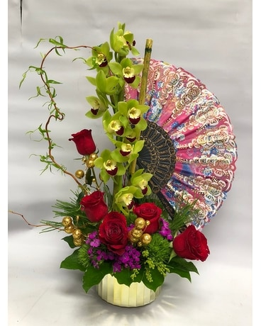Oriental Floral Flower Arrangement