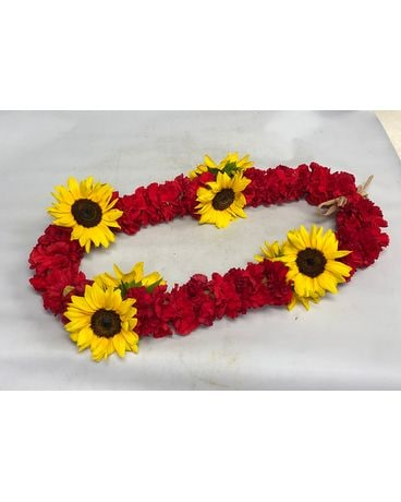 Carnations & Sunflowes Lei Custom product