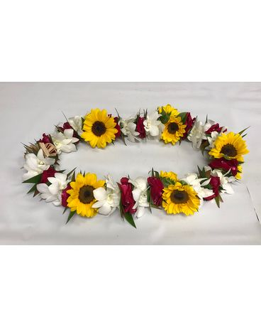 Sunflower & red rose petals Custom product