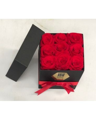Box of Everlasting red roses Custom product