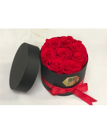 Forever lasting red roses Centerpiece