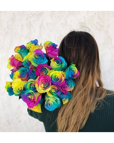 Rainbow roses Custom product